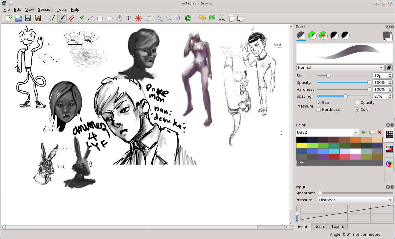 Drawpile Art design software